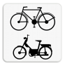 Verkeersbord M8 - Enkel voor fietsers en bromfietsers.