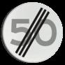 Verkeersbord A02-050 - Einde maximum snelheid 50 km/h