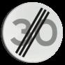 Verkeersbord A02-030 - Einde maximum snelheid 30 km/h