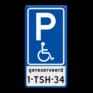 Verkeersbord BT17 - Parkeren mindervaliden  + kenteken