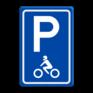 Verkeersbord E08m - Parkeerplaats motoren