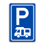 Verkeersbord E08n - Parkeerplaats campers
