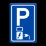 Verkeersbord E08o - Parkeerplaats met oplaad punt