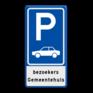 Verkeersbord E08-OB - Parkeerplaats auto's
