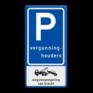 Verkeersbord E09-OB304 - Parkeerplaats vergunninghouders