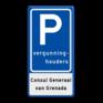 Verkeersbord E09-OB308 - Parkeerplaats vergunninghouders