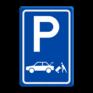 Verkeersbord E07c - Parkeergelegenheid Laden en lossen voor auto's