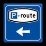 Verkeersbord BW204 - Parkeerrouteverwijzing