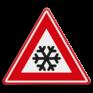 Verkeersbord J36 - Vooraanduiding ijzel of sneeuw