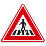 Verkeersbord J22 - Vooraanduiding voetgangers oversteekplaats