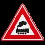 Verkeersbord J11 - Vooraanduiding overweg zonder slagbomen