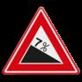Verkeersbord J07 - Waarschuwing gevaarlijke daling