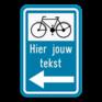 Verkeersbord F34c2 - Aanbevolen reisweg voor bepaalde weggebruikers.