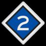 spoorwegbord VS RS 304b - Treinlengtebord
