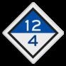 spoorwegbord VS RS 304c - Treinlengtebord
