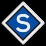 spoorwegbord SA RS 301a - Stopbord E-tractie