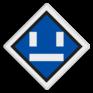 spoorwegbord SA RS 306a - Uitschakelbord