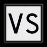 spoorwegbord ST RS 322 - 'VS'-bord