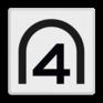 spoorwegbord SH RS 281 - Entreesnelheidsbord