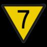 spoorwegbord SH RS 313 - Snelheidsverminderingsbord