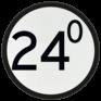 spoorwegbord VS RS 318a - Bord 'Aankondiging overweg'