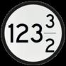 spoorwegbord VS RS 318b - Bord 'Aankondiging overweg'
