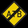 spoorwegbord RS 329 - ATB-uitschakelbord