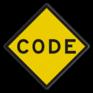 spoorwegbord RS 328b - ATB-code bord