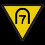 spoorwegbord SH RS 286 - Entreesnelheidsverminderingsbord