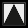 spoorwegbord RS 220/221/222 - Bord t.b.v. lichtseinen zonder blokfunctie