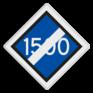 spoorwegbord SA RS 320a - Aanduiding locatie omschakelen hoogspanning