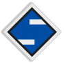 spoorwegbord SA RS 308a - Bord 'Aankondiging stroomafnemers neer'
