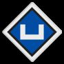 spoorwegbord SA RS 307a - Inschakelbord