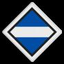 spoorwegbord SA RS 309a - Bord 'stroomafnemers neer'