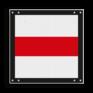 spoorwegbord ST RS 243 - Afsluitbord vlak Stoppen voor sein of brug