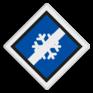 spoorwegbord VS RS 373 - Treinlengtebord voor anti-icing