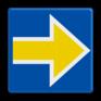 spoorwegbord RS 227b - Bord Stopplaatsmarkering rechts