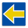 spoorwegbord RS 227b - Bord Stopplaatsmarkering links