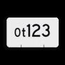 spoorwegbord RS WO - Wisselnummerbord Ontspoortong