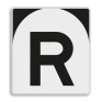 spoorwegbord ST RS 302 - 'R'-bord
