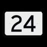spoorwegbord KM RS-HM - Kilometerbord (vlak)