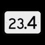 spoorwegbord KM RS-HM - Hectometerbord (vlak)