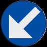 spoorwegbord VS RS 349a - Belgisch pijlbord