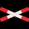 spoorwegbord SO RVV J12 - aanduiding overweg met enkelspoor