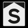 spoorwegbord ST RS 301 - 'S'-bord