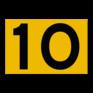 Scheepvaartbord G.5.1. - Hoogteschaal