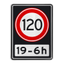 Verkeersbord A01120OB201ps - Maximum snelheid 120 km/h