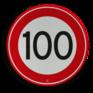 Verkeersbord A01-100 - Maximum snelheid 100 km/h