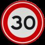 Verkeersbord A01-030 - Maximum snelheid 30 km/h