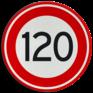 Verkeersbord A01-120 - Maximum snelheid 120 km/h